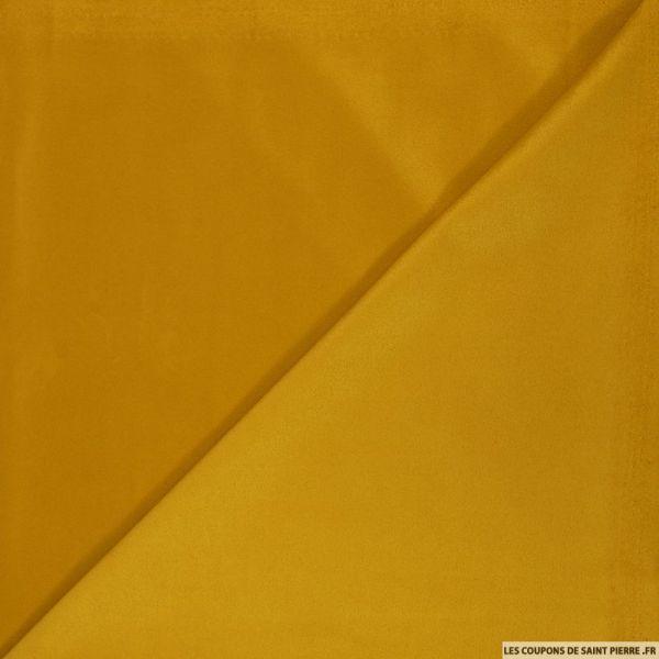 Tissu aspect daim double-face moutarde
