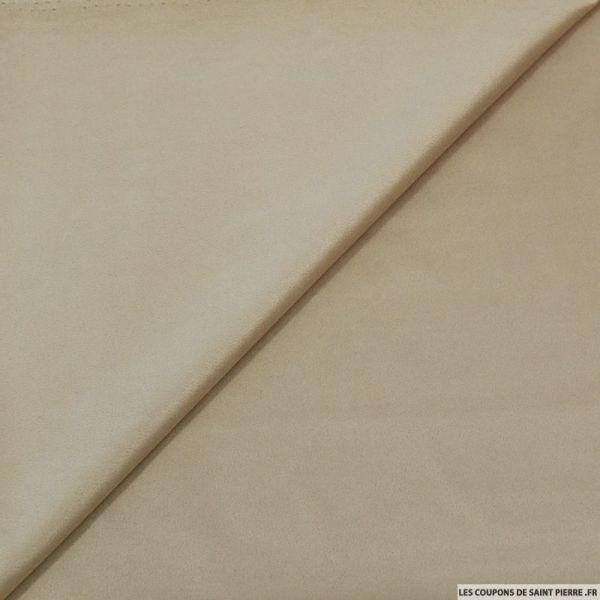 Tissu effet daim double-face beige