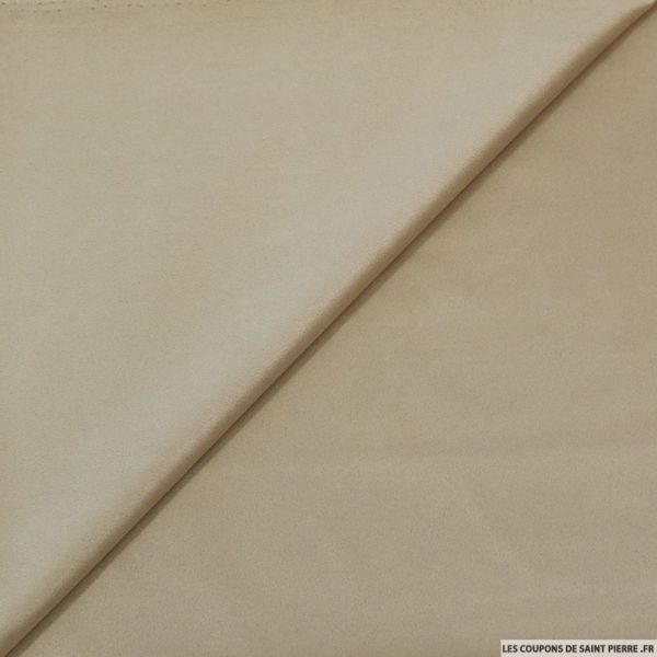 Tissu aspect daim double-face beige
