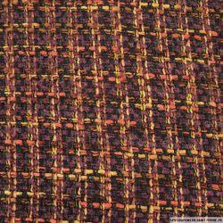 Lainage tricot à carreaux multicolore