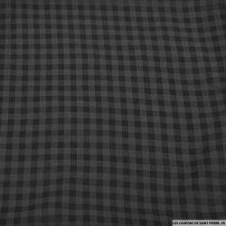 Voile de coton carreaux noir et gris anthracite