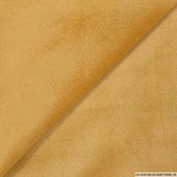 Velours ras polyester beige
