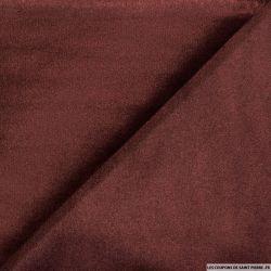 Velours ras polyester bordeaux