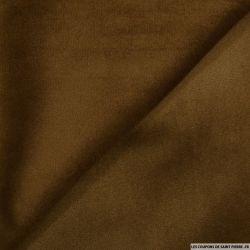 Velours ras polyester marron