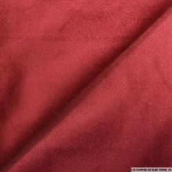 Velours ras polyester rouge rubis
