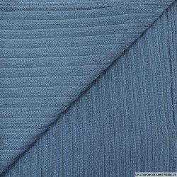 Maille rayé bleu barbeau