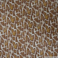 Simili cuir polyester imprimé reptile spéculoos