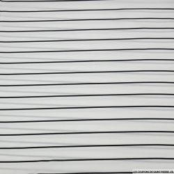 Jersey polyester marinière noir et blanc