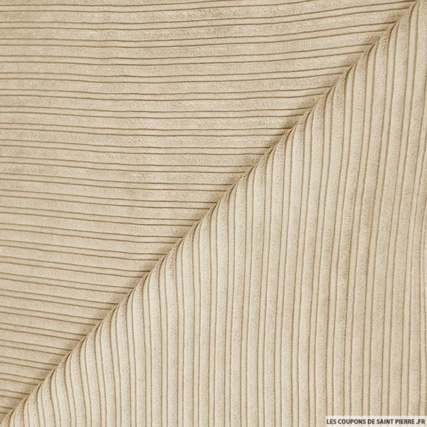 Velours côtelé double sable