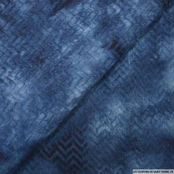 Jersey imprimé fleurs polyester écru