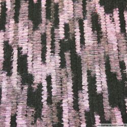 Caban floqué néon flou rose et noir
