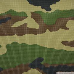 Toile imprimée camouflage forestier